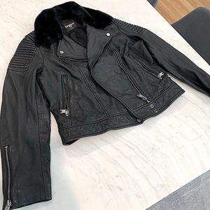 Superdry Premium Leather Biker Jacket